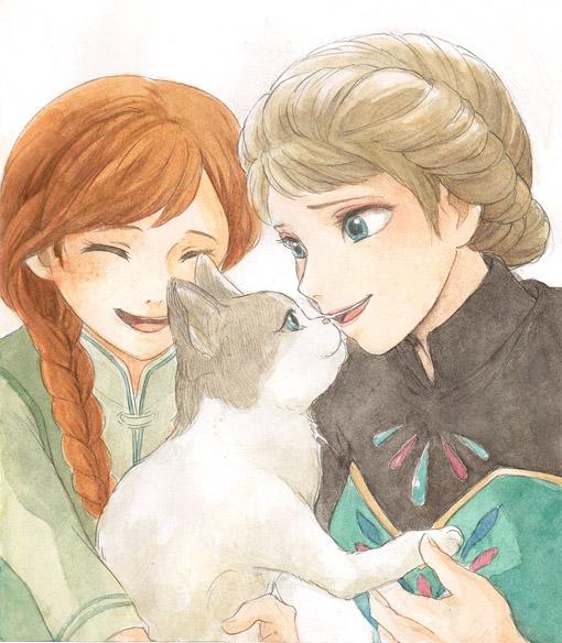Красивые картинки Эльза и Анна из Холодного Сердца - подборка 12