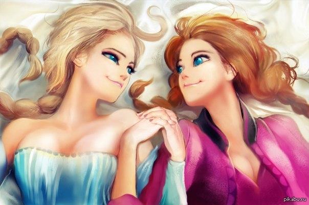 Красивые картинки Эльза и Анна из Холодного Сердца - подборка 14