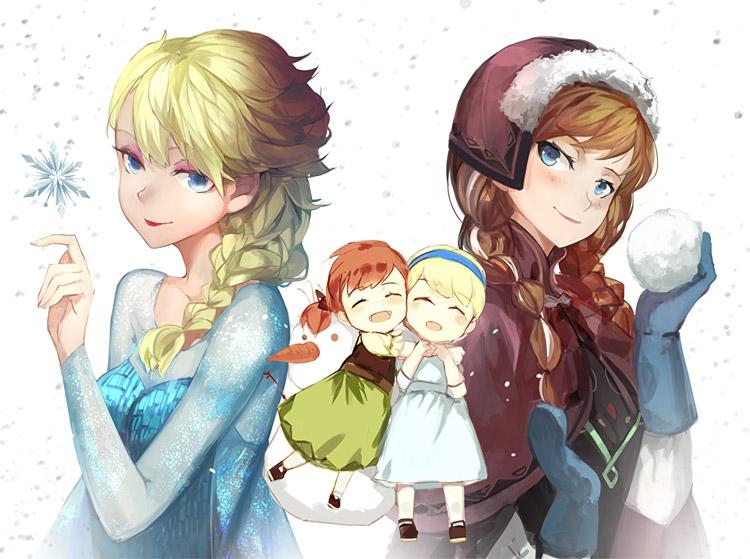 Красивые картинки Эльза и Анна из Холодного Сердца - подборка 3