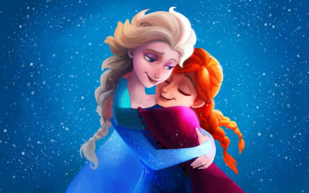 Красивые картинки Эльза и Анна из Холодного Сердца - подборка 4