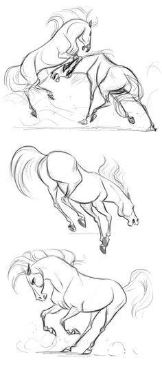 Красивые картинки для срисовки карандашом лошади или пони 12