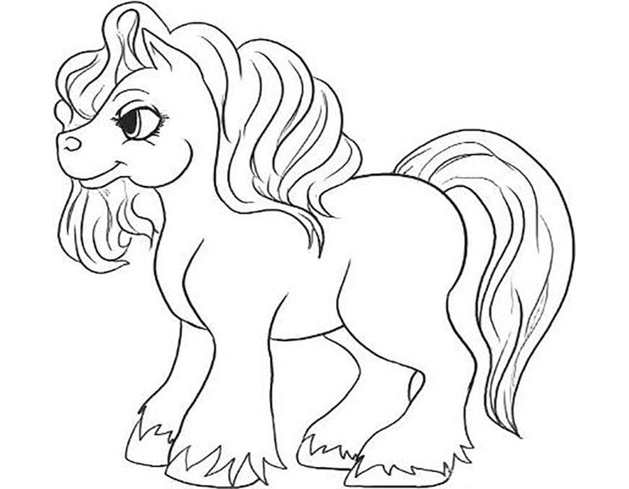 Красивые картинки для срисовки карандашом лошади или пони 14