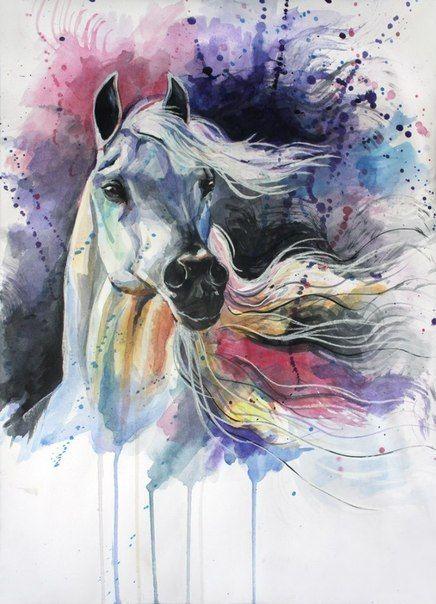 Красивые картинки для срисовки карандашом лошади или пони 17