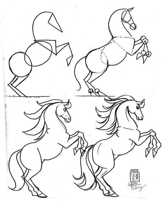 Красивые картинки для срисовки карандашом лошади или пони 2