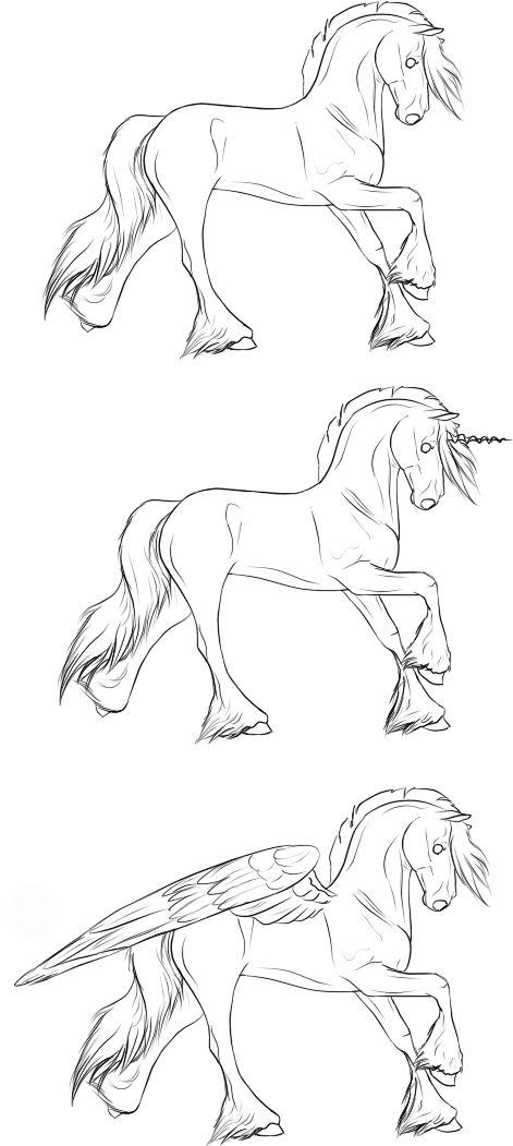 Красивые картинки для срисовки карандашом лошади или пони 20