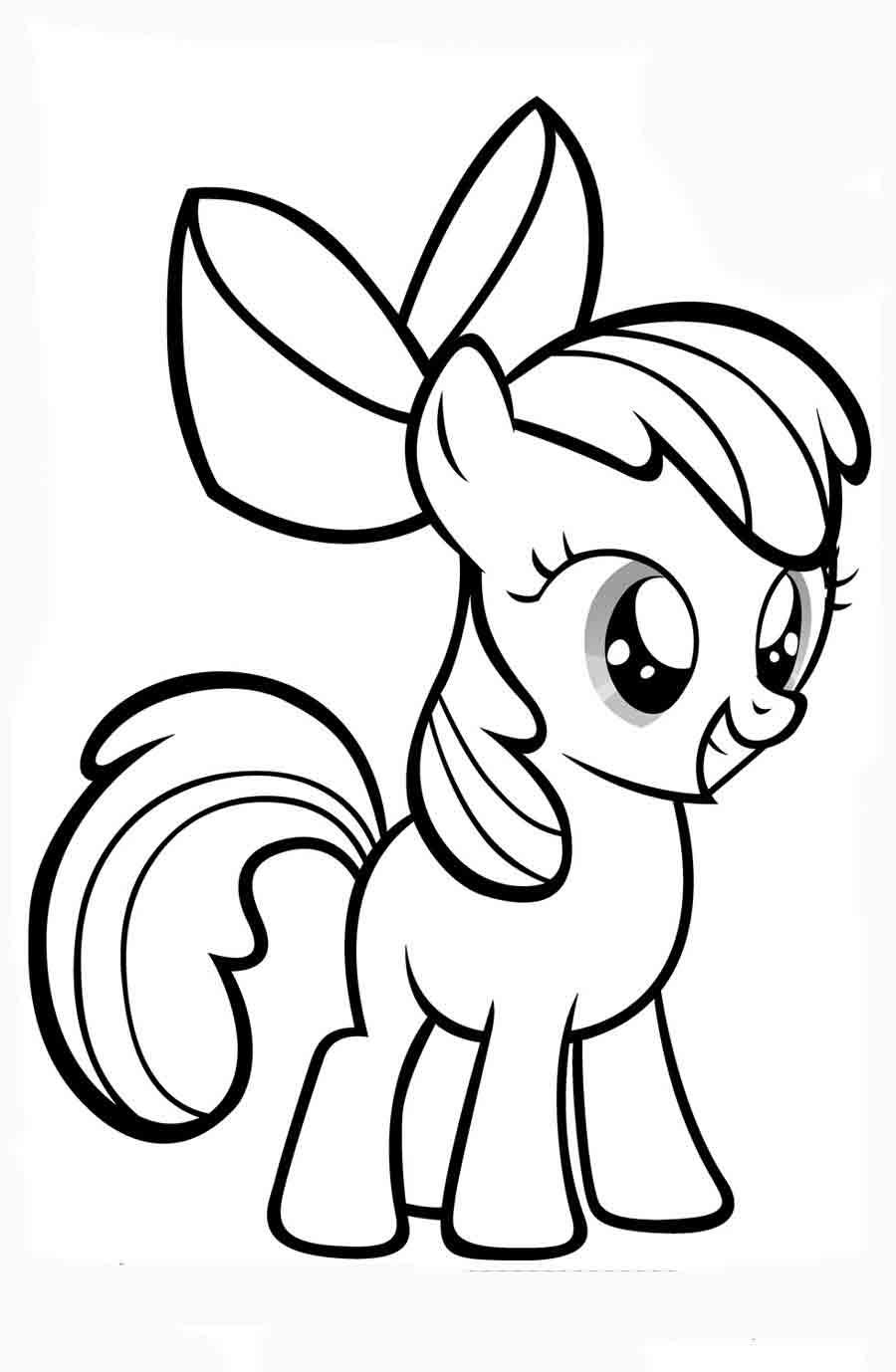 Красивые картинки для срисовки карандашом лошади или пони 23