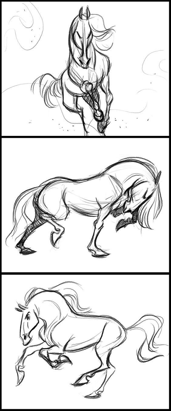Красивые картинки для срисовки карандашом лошади или пони 24