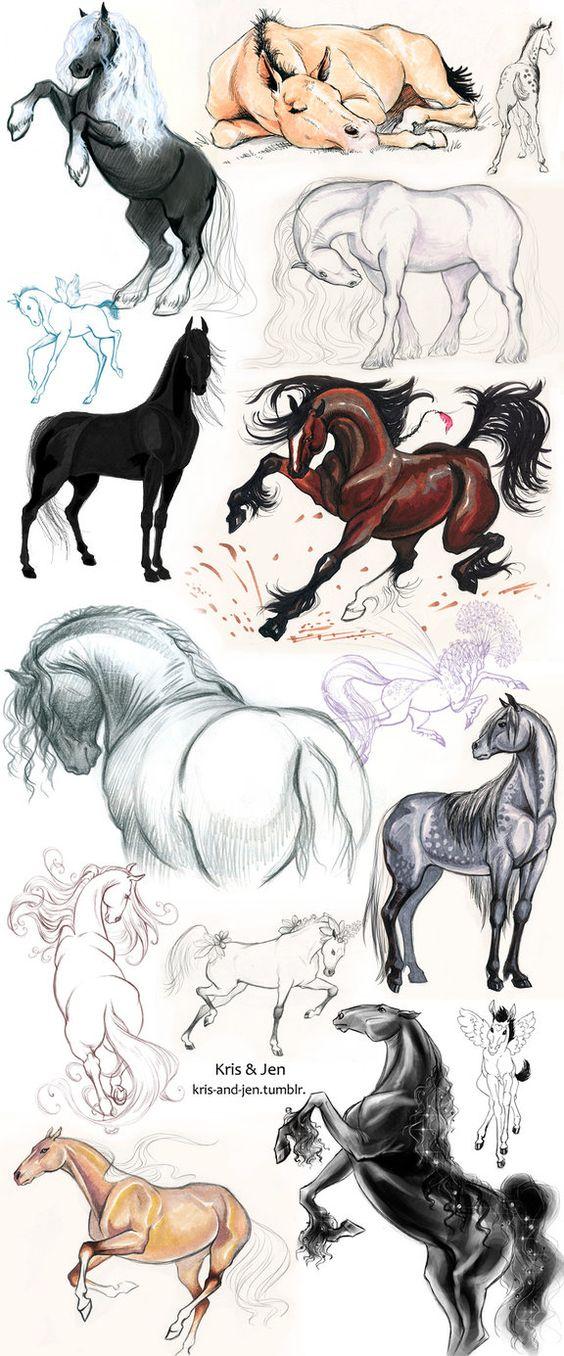 Красивые картинки для срисовки карандашом лошади или пони 5