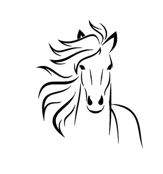 Красивые картинки для срисовки карандашом лошади или пони 8