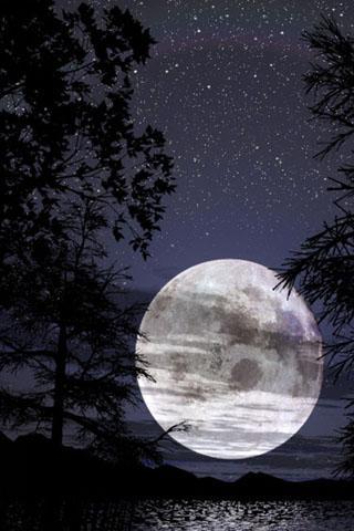 Невероятные и необычные картинки, фото луны на телефон на заставку 16