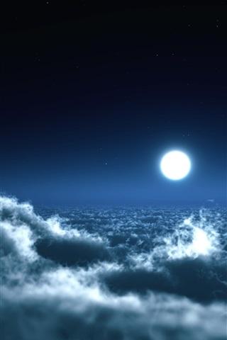 Невероятные и необычные картинки, фото луны на телефон на заставку 17