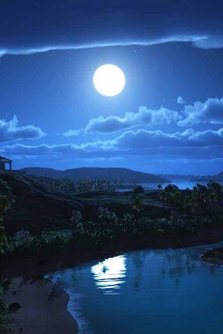Невероятные и необычные картинки, фото луны на телефон на заставку 18