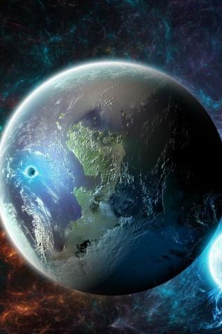 Невероятные и необычные картинки, фото луны на телефон на заставку 8