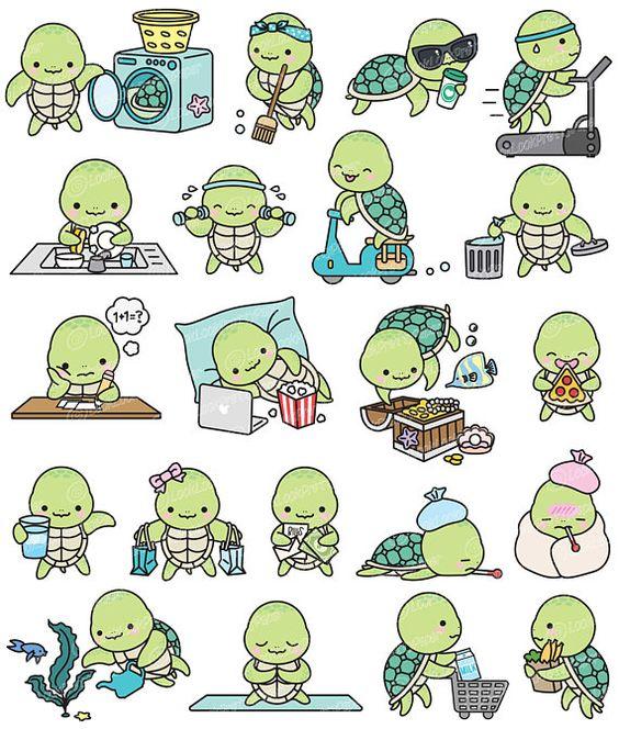 Няшные и милые картинки, рисунки для срисовки в личный дневник 11