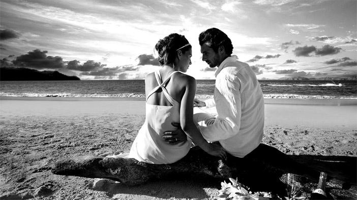Черно-белые фото влюбленных людей, красивые пары - сборка фото 16