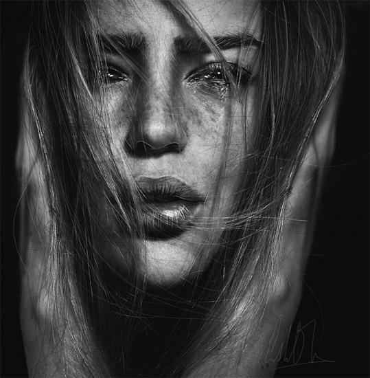 Девушка плачет - картинки. Грустные картинки плачущих девушек 10