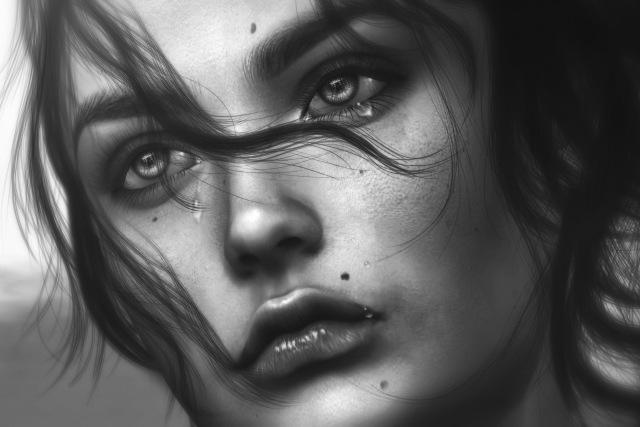 Девушка плачет - картинки. Грустные картинки плачущих девушек 11