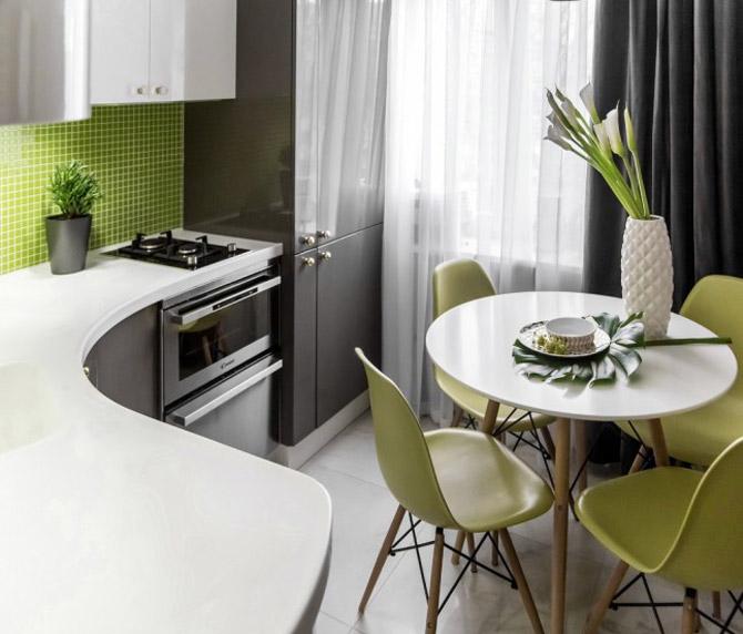 Как правильно использовать пространство в маленькой кухне 1