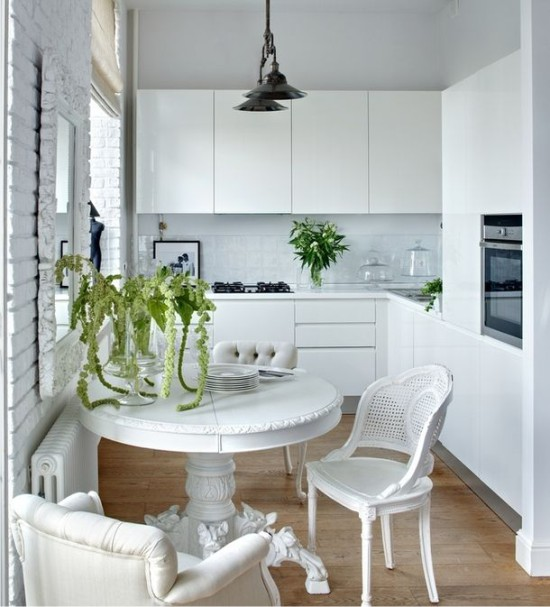 Как правильно использовать пространство в маленькой кухне 2