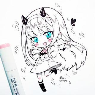 Милые и няшные картинки срисовки для девочек маленького возраста 14