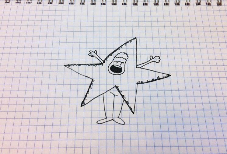 Прикольные и простые картинки для срисовки Звезда, Звезды - сборка 7