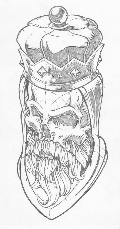 Рисунки и картинки для срисовки череп, черепок - самые прикольные 1