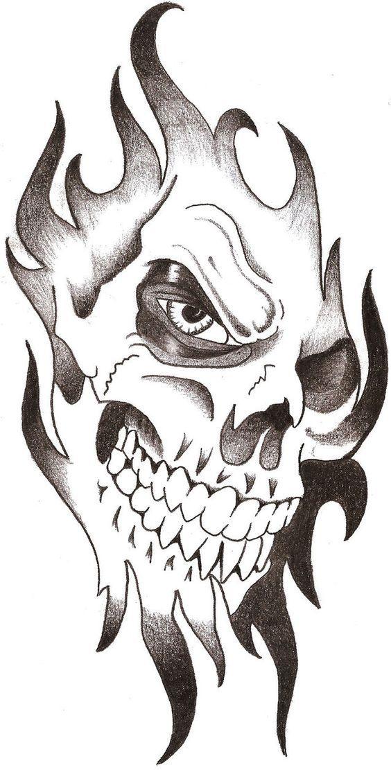 Рисунки и картинки для срисовки череп, черепок - самые прикольные 14