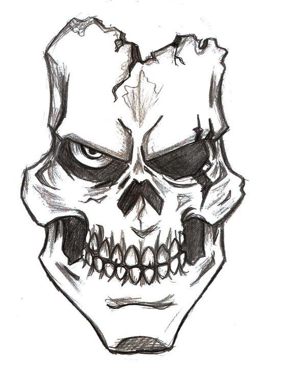 Рисунки и картинки для срисовки череп, черепок - самые прикольные 5