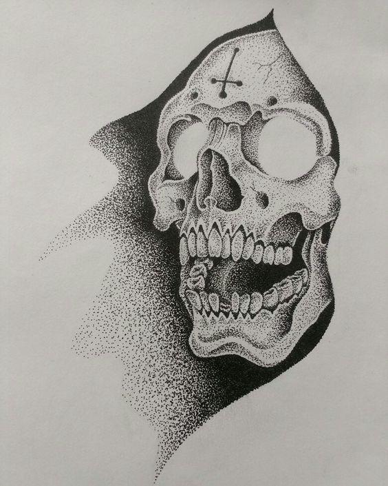 Рисунки и картинки для срисовки череп, черепок - самые прикольные 7