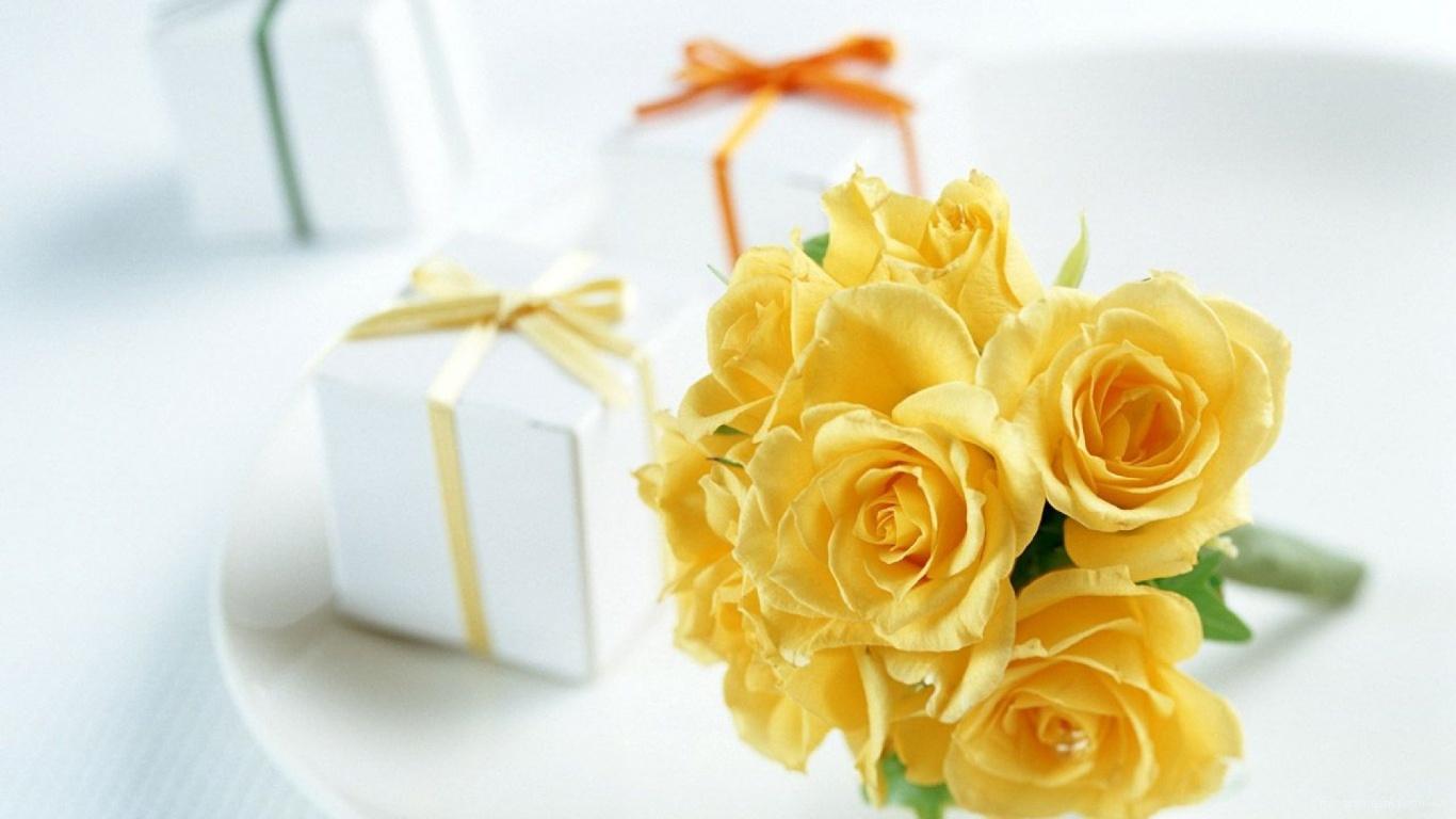 Удивительные картинки на рабочий стол Желтые розы - подборка 14