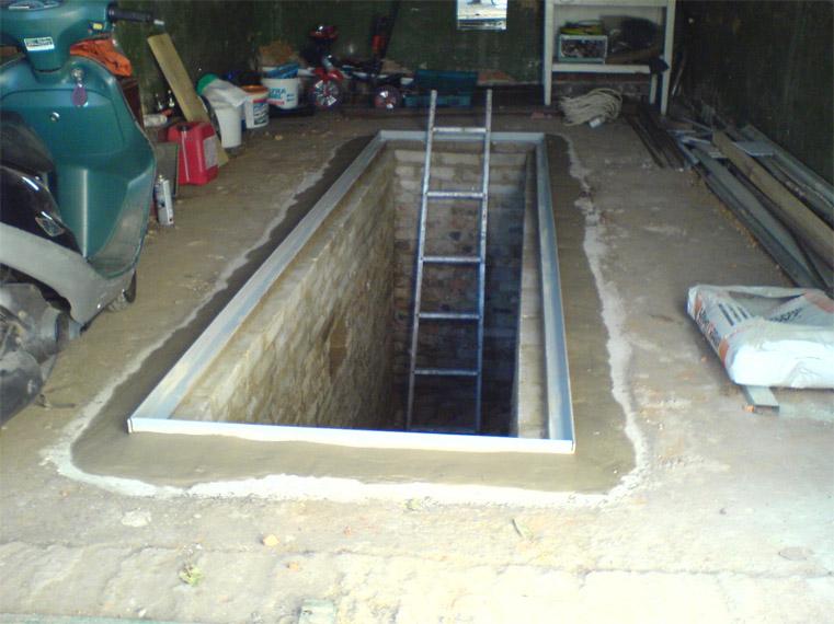 Устройство смотровой ямы в гараже своими руками - начало работ 2