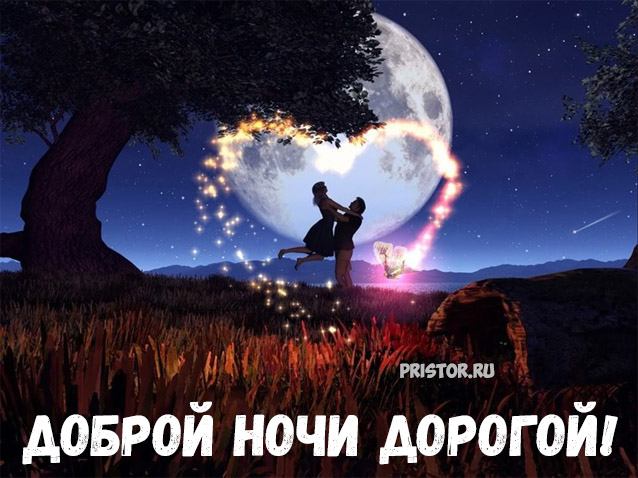 Доброй ночи дорогой - красивые картинки и открытки на ночь 1