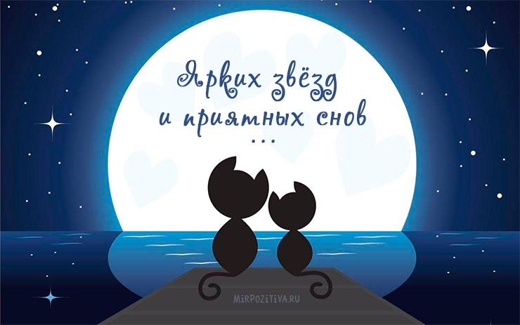 Доброй ночи дорогой - красивые картинки и открытки на ночь 2