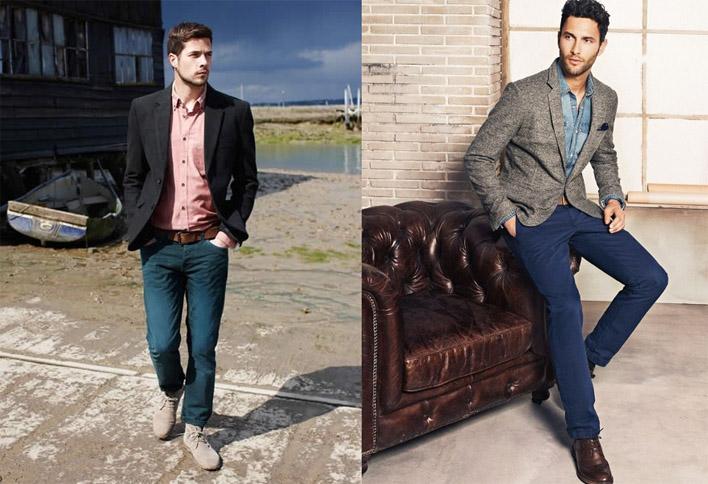 Как мужчинам грамотно сочетать джинсы и пиджак - советы, фото 1