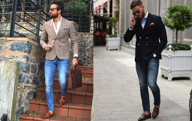 Как мужчинам грамотно сочетать джинсы и пиджак - советы, фото 2