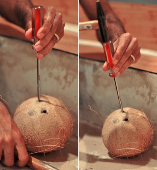 Как открыть кокос в домашних условиях - простые способы и методы 3