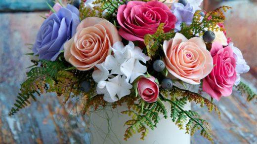 Как собрать цветочную композицию - оформление, интересное 2