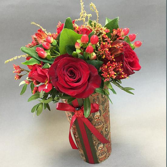 Как собрать цветочную композицию - оформление, интересное 6