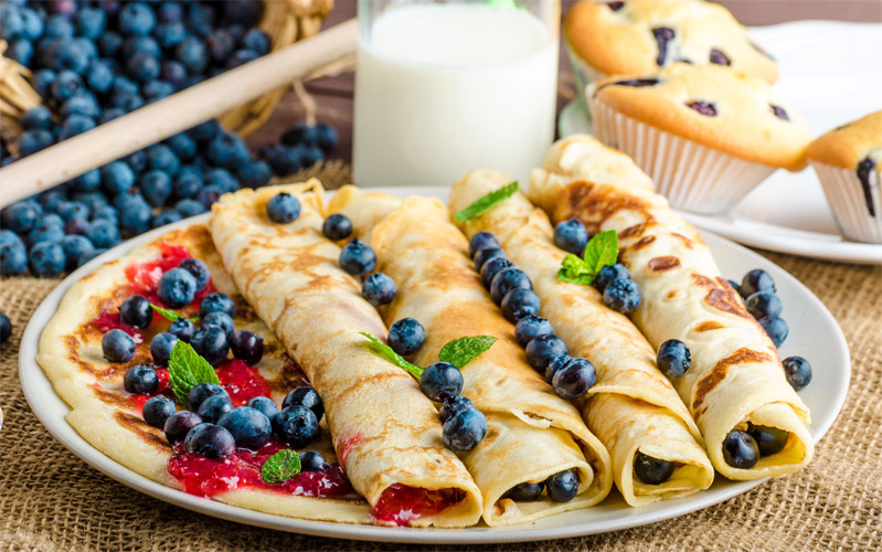 Красивые и аппетитные картинки блинчиков, блинов - подборка фото 9