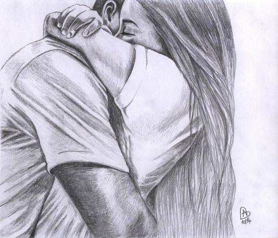 Красивые и интересные картинки для срисовки пары, влюбленные пары 7