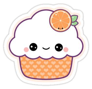 Красивые и милые картинки кексов, пирожных для срисовки 1