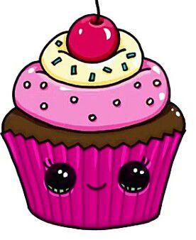 Красивые и милые картинки кексов, пирожных для срисовки 3