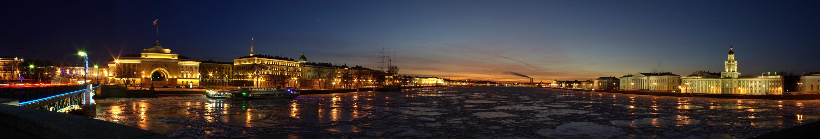 Красивые и необычные панорамные фотографии Санкт-Петербурга 11