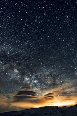 Красивые и прикольные картинки на телефон ночное небо - сборка 10