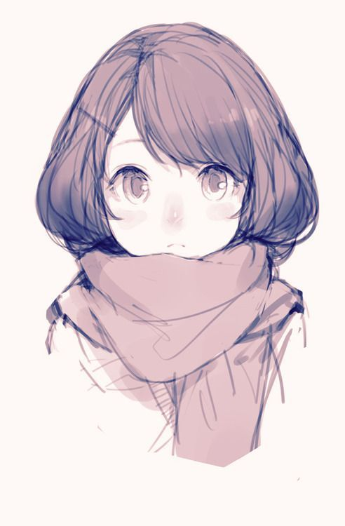 Красивые картинки аниме девушек для срисовки карандашом - сборка 8