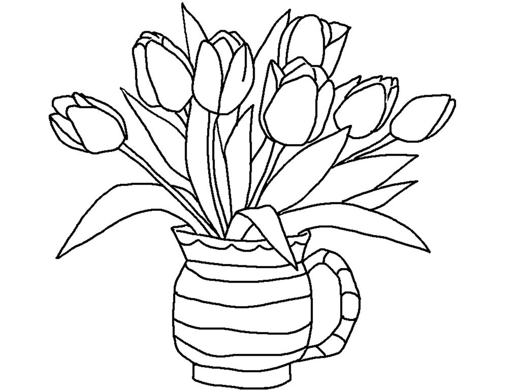 Красивые картинки вазы с цветами и без для срисовки - подборка 1