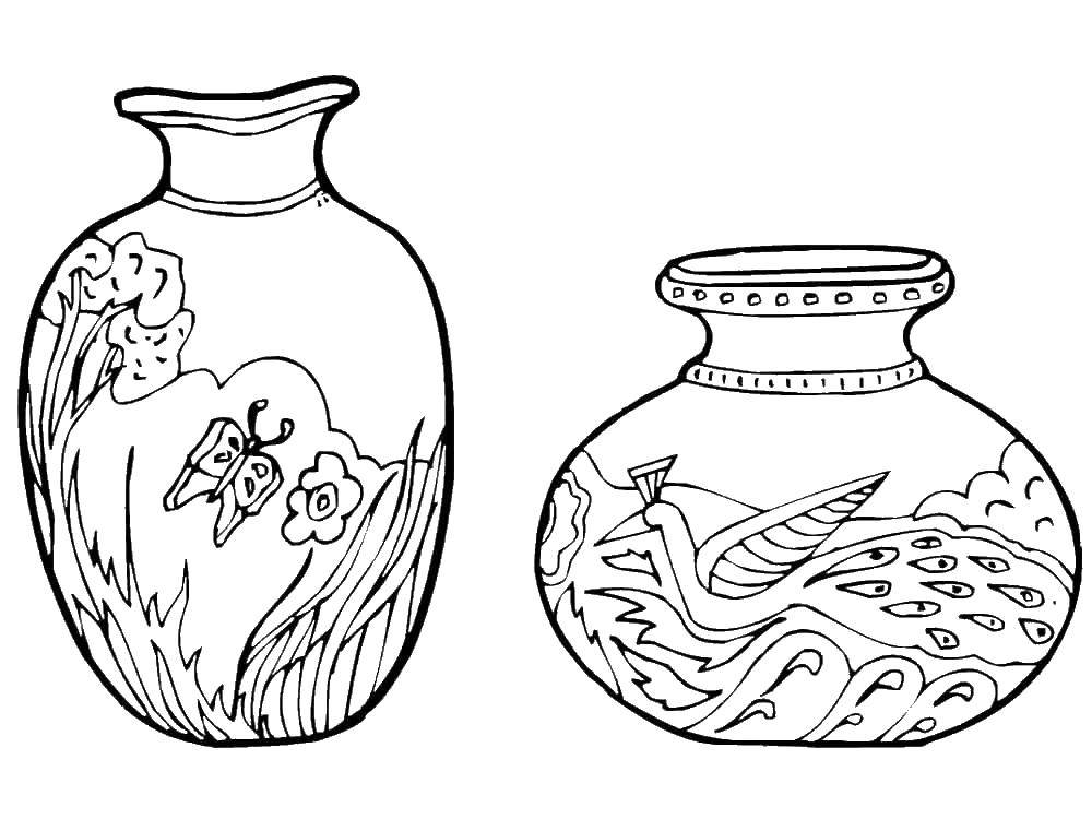 Красивые картинки вазы с цветами и без для срисовки - подборка 11