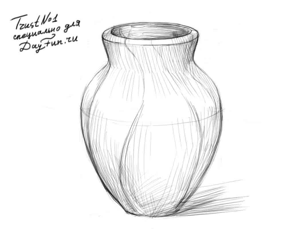 Красивые картинки вазы с цветами и без для срисовки - подборка 2