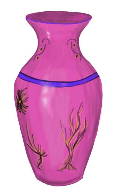 Красивые картинки вазы с цветами и без для срисовки - подборка 5