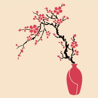 Красивые картинки вазы с цветами и без для срисовки - подборка 6